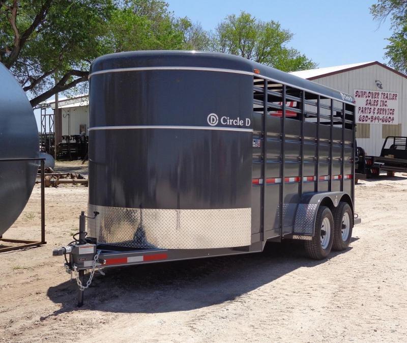 2020 Circle D 6'8 x 16' Livestock Trailer