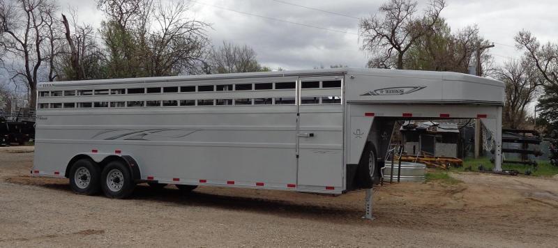 2020 Titan 6'8 x 24' Classic Livestock Trailer