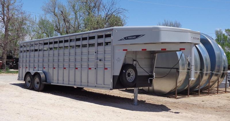 2020 Titan 6'8 x 24' Standard Livestock Trailer