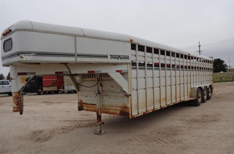 1995 Travalong 28' Gooseneck Livestock Trailer