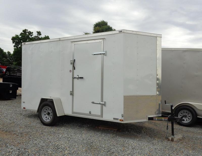 2020 Lark 6' X 12' V-Nose Enclosed Cargo Trailer