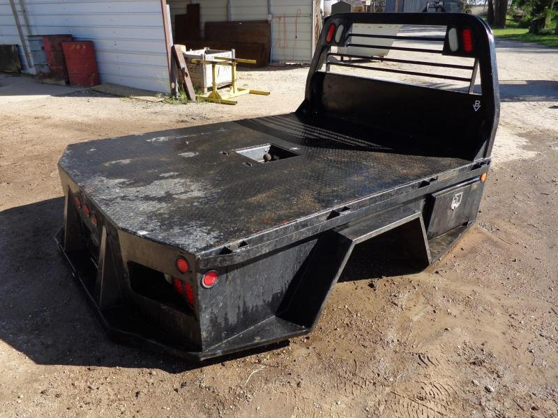 "2007 CM Truck Beds 58"" c/a Dually Skirted 4 Box Truck Bed"