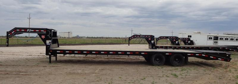 "2020 PJ Trailers 102"" x 32' Low-Pro Flatdeck with Duals (LD)"