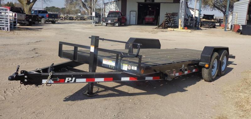 Used 2019 PJ Trailers 20' x 6 in. Channel Equipment Tilt (T6) Equipment Trailer