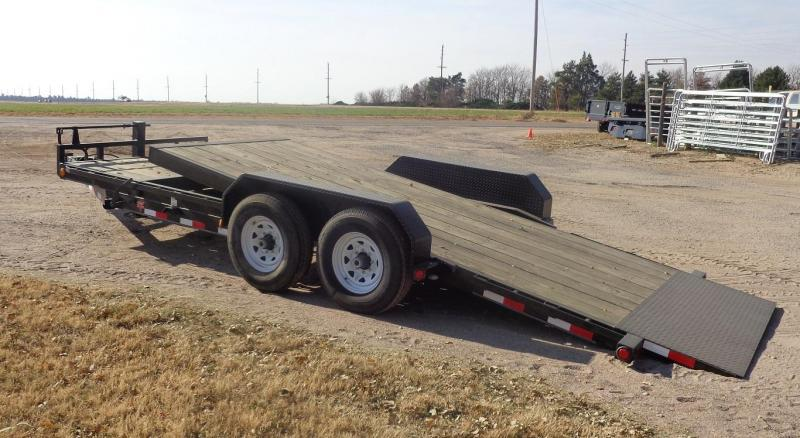 Used 2019 PJ Trailers 20' x 6 in. Channel Equipment Tilt (T6) Equipment Trailer