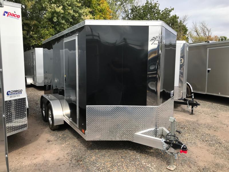 2020 Aluminum Trailer Company RAVAB7012+2-2S3.5k Motorcycle Trailer