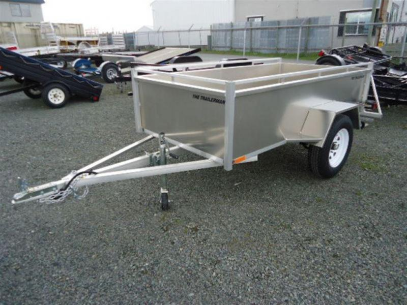 2020 Trailerman 4 x 8 Aluminum Box Utility Trailer