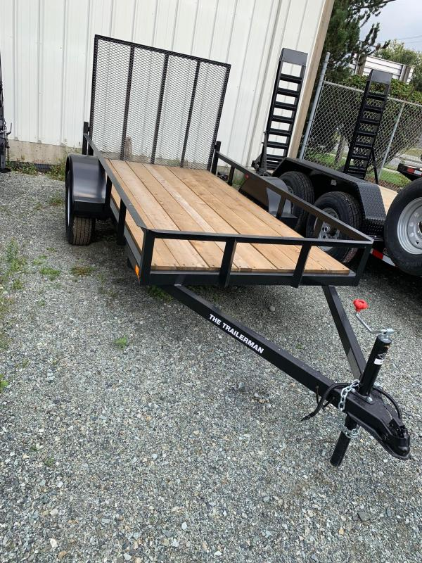 2019 Trailerman. 5X10 RAILSIDE Utility Trailer