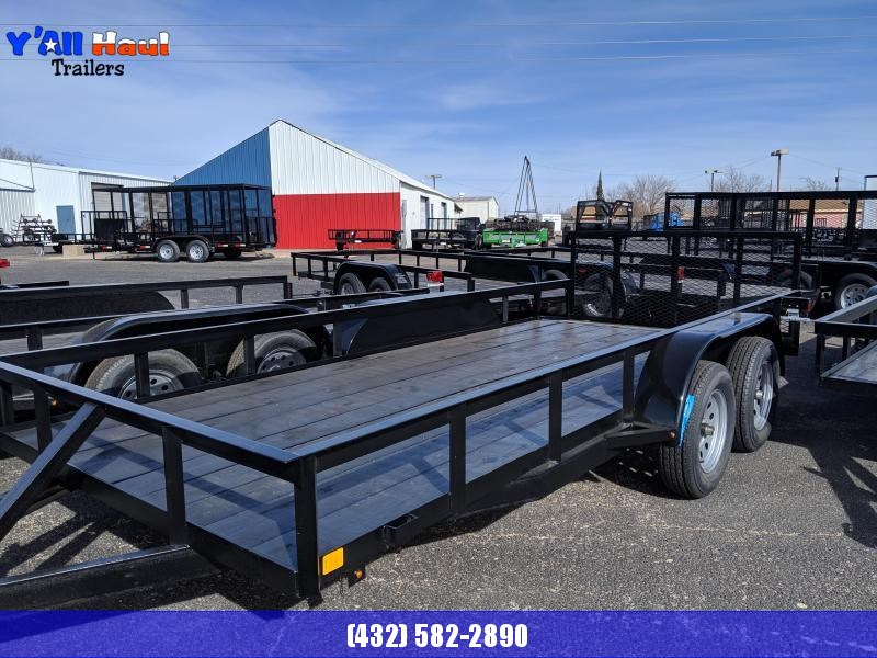 "C&M 76 x 16 Utility Trailer Dove tail 32"" Gate"