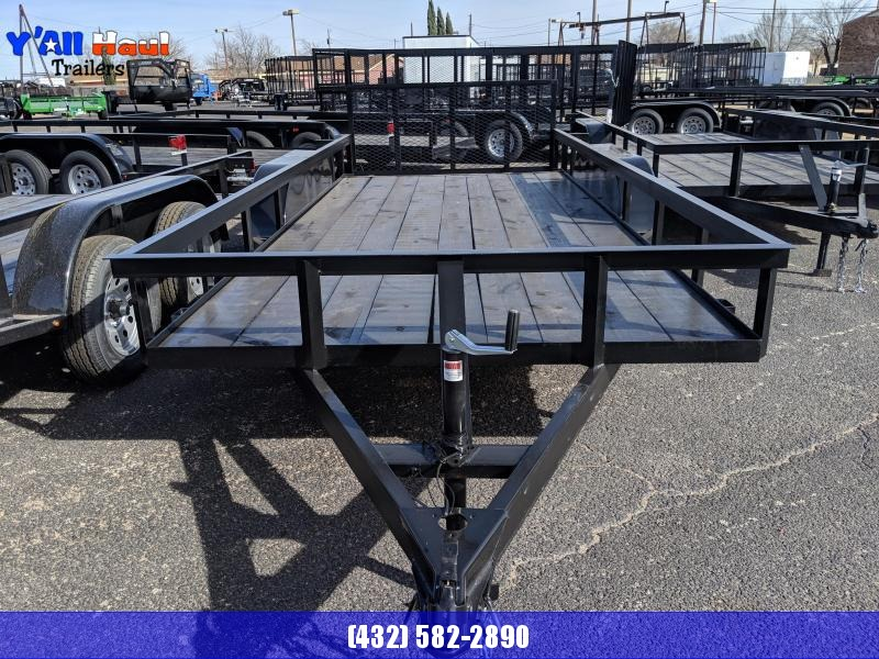 C&M 76 x 14 Tanedem Dovetail Gate  Utility Trailer