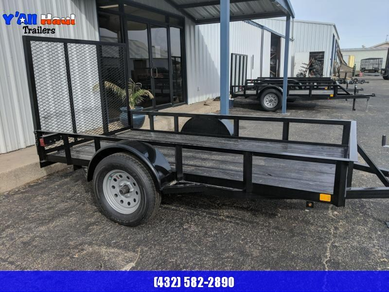 C&M 5 x 10 Single Utility Trailer 4' Gate