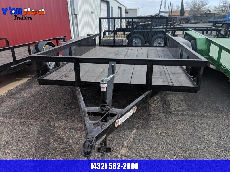 "C&M 76 x 12 Tandem Utility Trailer 2' Dovetail 32""Gate"