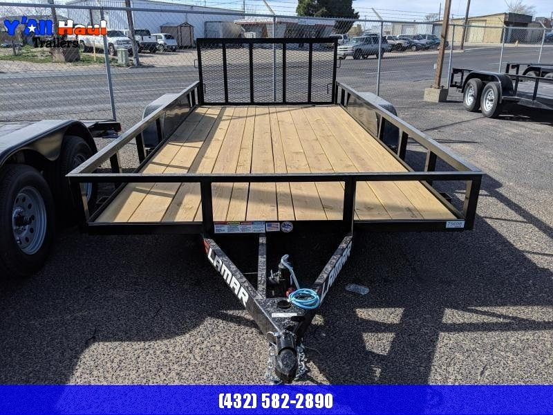 2019 Lamar Trailers 83 x 16 Dovetail Gate Utility Trailer