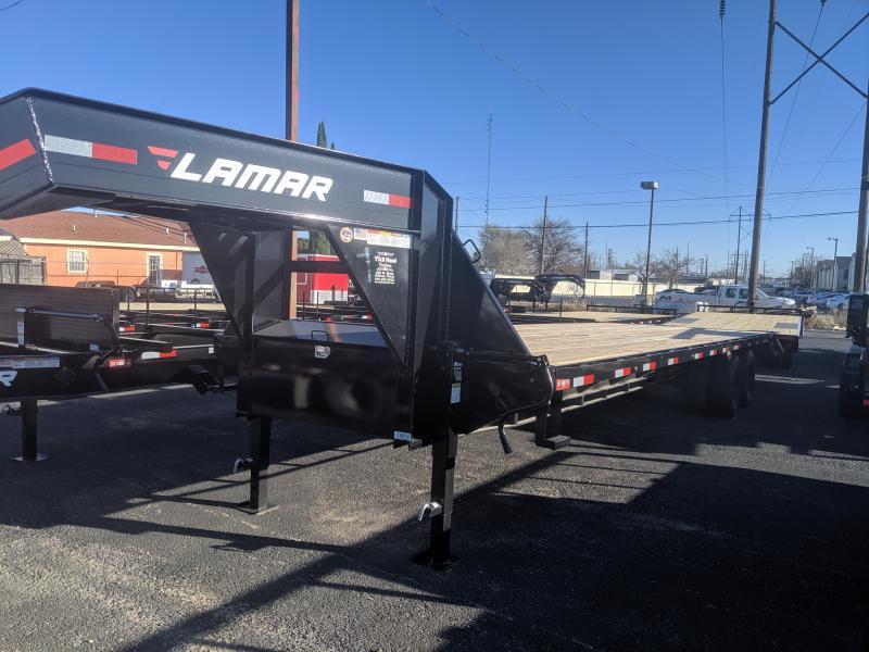 2019 Lamar Trailers 102x32 Gooseneck  12k  5'Dovetail 2 ramps