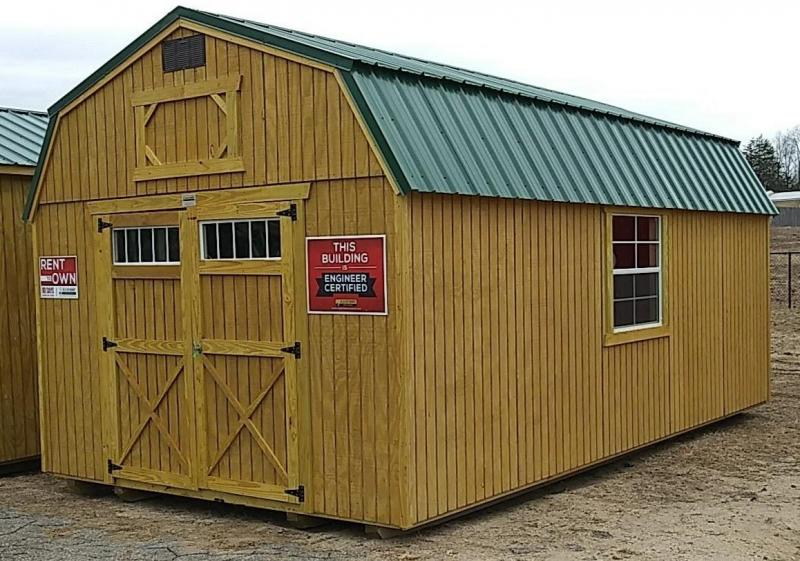 Brand NEW Old Hickory Lofted Barn 12' x 20' Hunter Green Roof