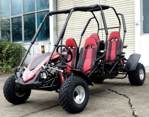 NEW Trailmaster Blazer 150 4 Passenger Family Go Kart 28MPH RED