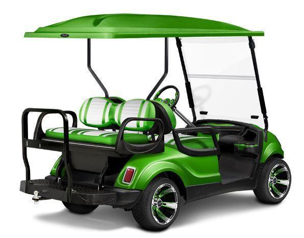 NICE!!!Customized Blue on Black Yamaha GAS Drive 4 Passenger Golf Cart