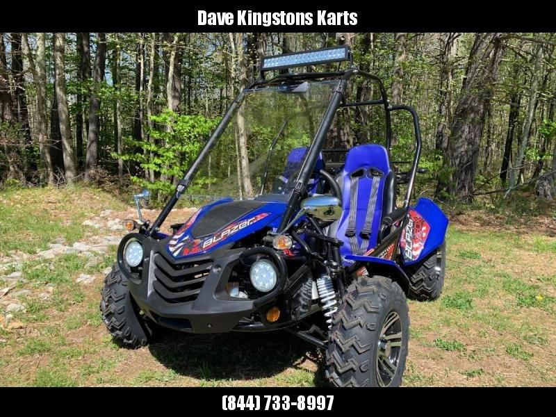 NEW Trailmaster Blazer 150X Go Kart Teen-Adult 40 MPH REVERSE LOADED! BLUE