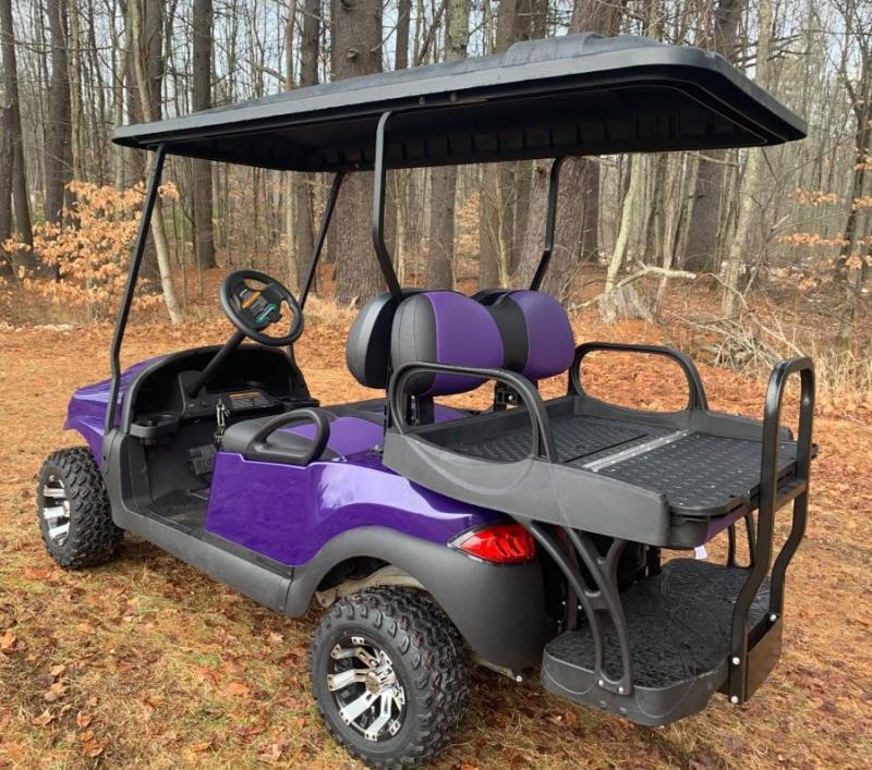 CUSTOM Club Car Precedent Metallic Purple Phantom ELEC 4PASS LIFTED