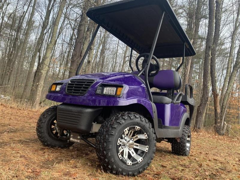 CUSTOM Club Car Precedent Metallic Purple Phantom ELEC 4PASS LIFTED