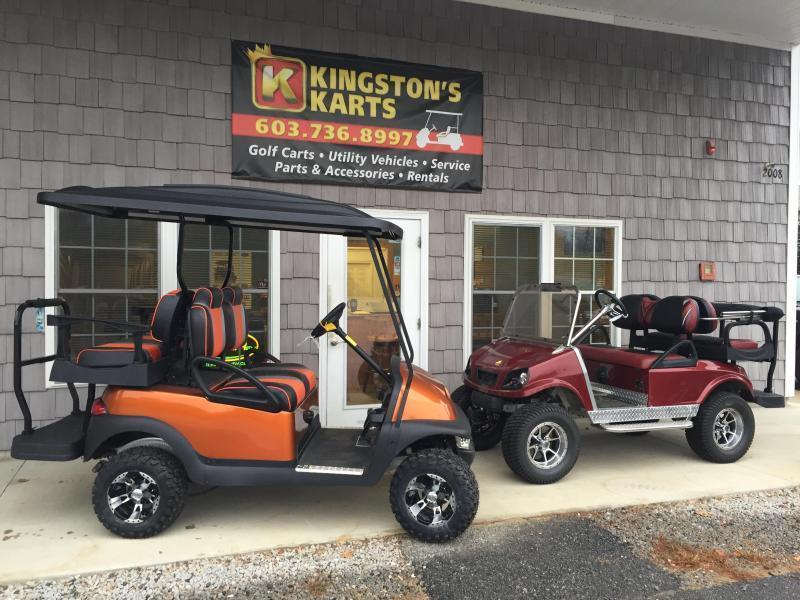 GAS Club Car CUSTOM 4 PASSENGER Metallic Burgundy Spartan W/LIFT KIT