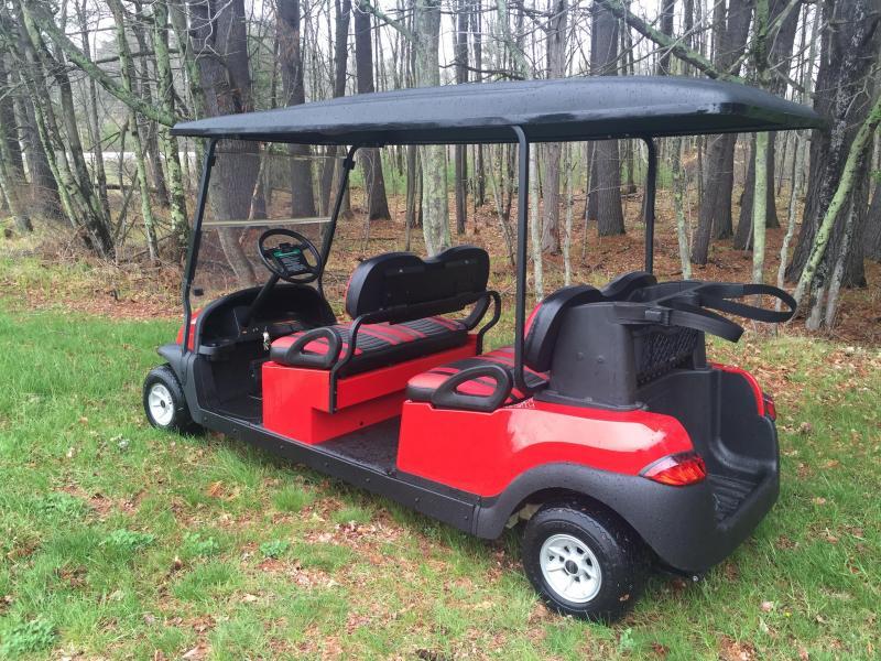 CUSTOM Club Car Precedent RED Phantom 4 pass ELECTRIC LIMO