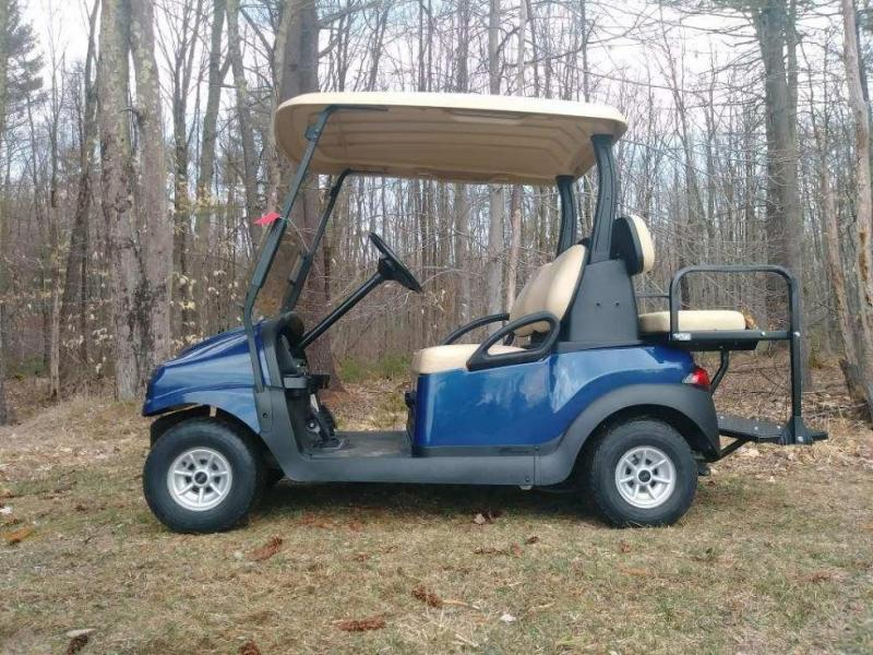 Custom Navy Blue Metallic Phantom Club Car Precedent 4 Pass Elect Golf Cart w/WARRANTY