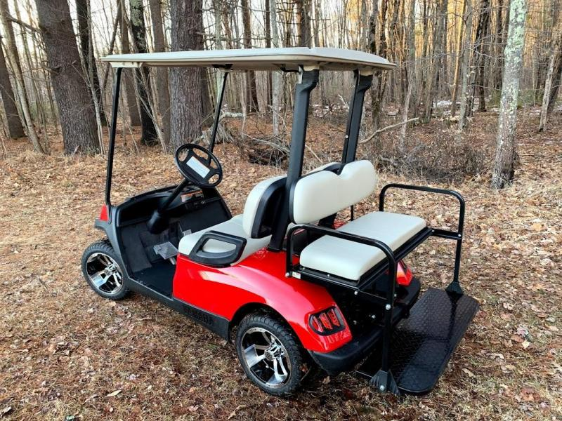 Yamaha Drive GAS 4 pass SEMI-CUSTOM golf car RED HAVOC body-NICE!!