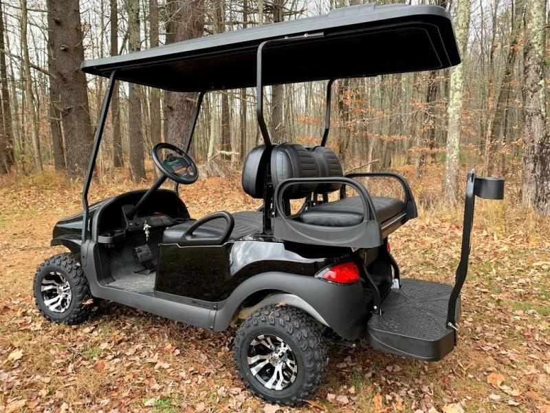 "SAVE $1000 CUSTOM Precedent Black Phantom 48V 4PASS Golf Car 4""LIFTKIT"