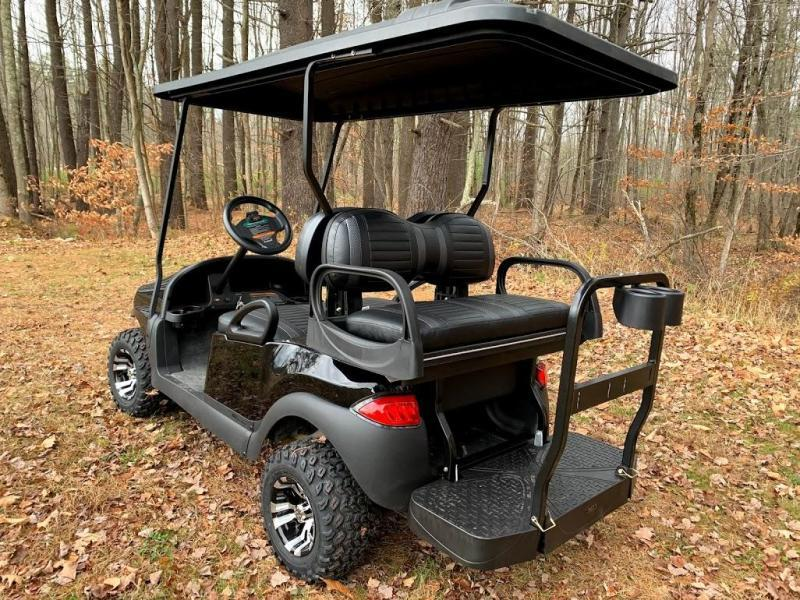 CUSTOM Precedent Metallic Black Phantom ELEC 4PASS Golf Car LIFTED