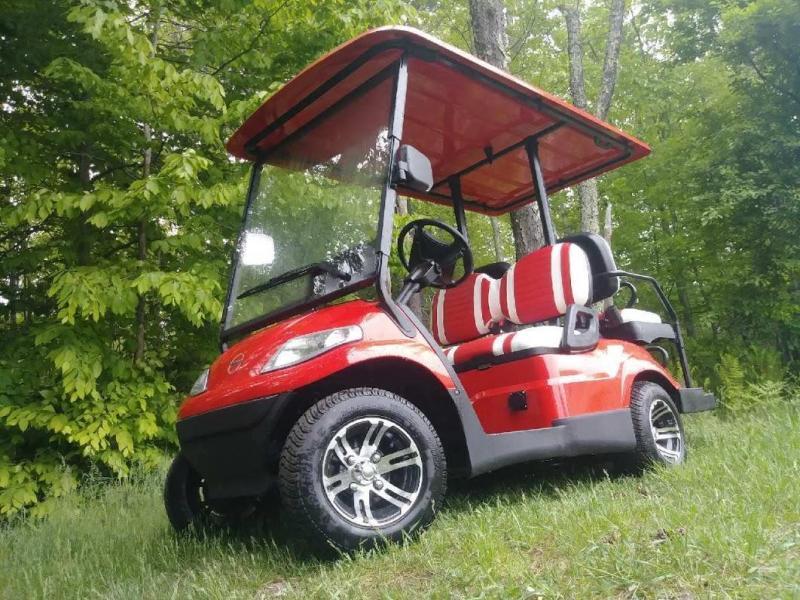 Save $1500!! NEW Advanced EV 4 pass 25MPH red electric golf car 3 yr warranty