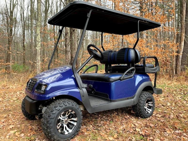 CUSTOM Precedent Metallic NAVY Blue Phantom ELEC 4PASS Golf Car LIFTED