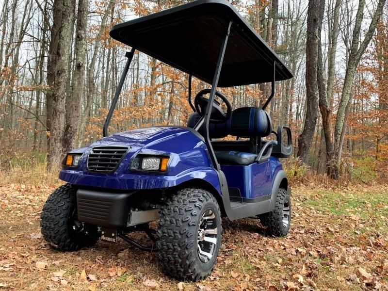 CUSTOM Precedent Metallic Blue Phantom ELEC 4PASS Golf Car LIFTED