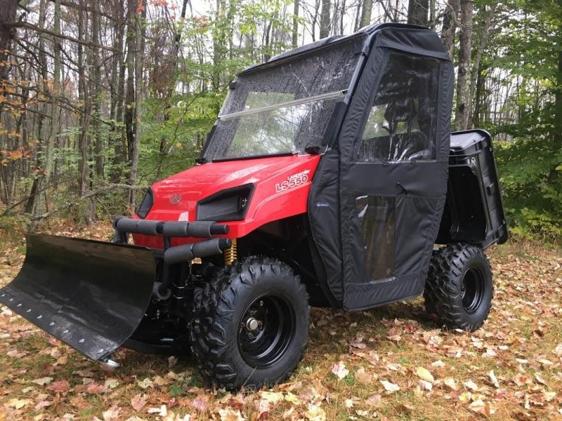 $2000 OFF American LandMaster 550 PLOW-PWR STEER-ENCLOSURE-ENDS OCT 31 RED