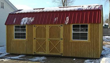 Brand NEW Old Hickory Lofted Barn 10'x 20' Natural w/red steel roof