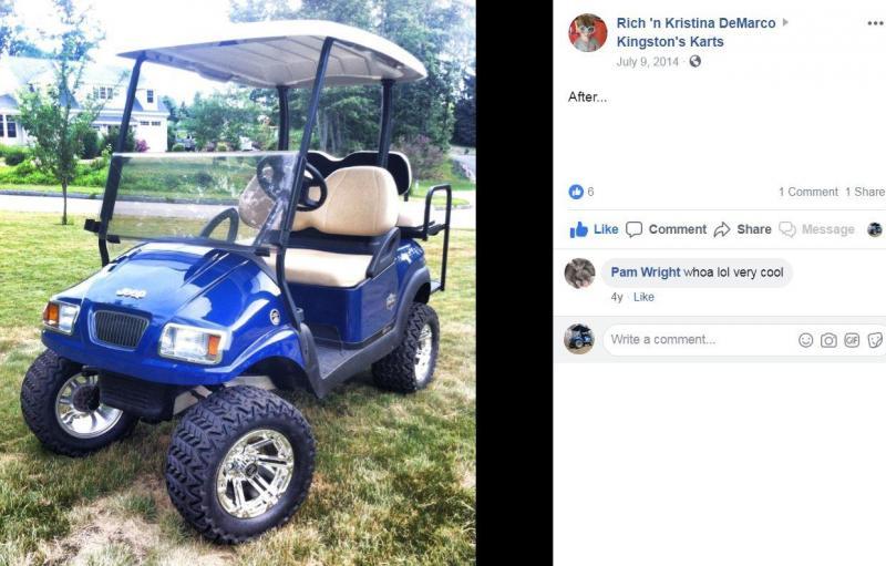 Metallic Blue Custom Lifted Precedent Phantom Elec Golf Car