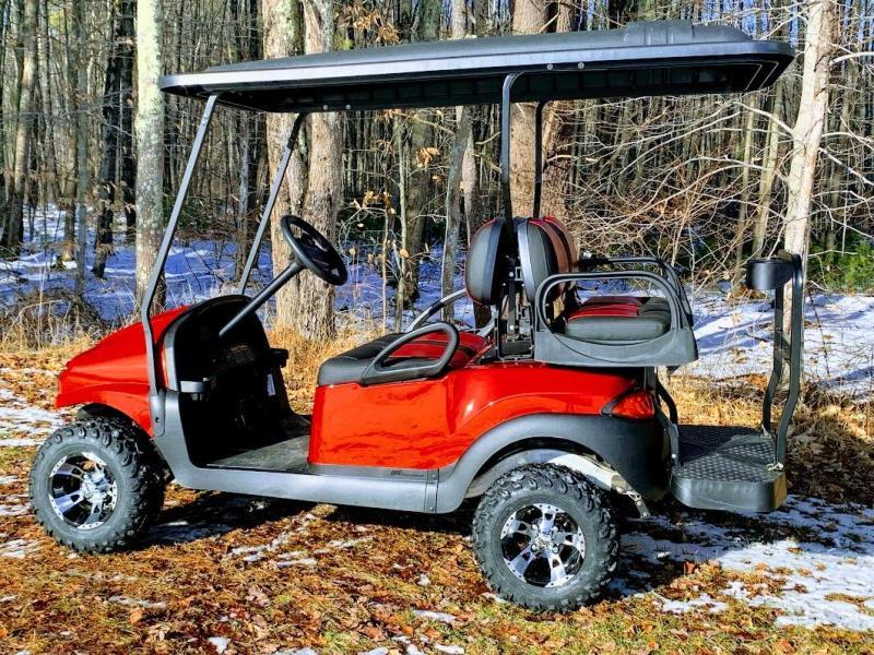 CUSTOM Precedent Metallic RUBY Phantom ELEC 4PASS Golf Car LIFTED