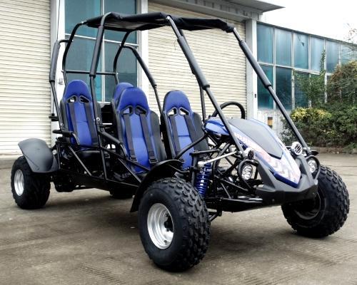 NEW Trailmaster Blazer 150 4 Passenger Family Go Kart 28MPH BLUE