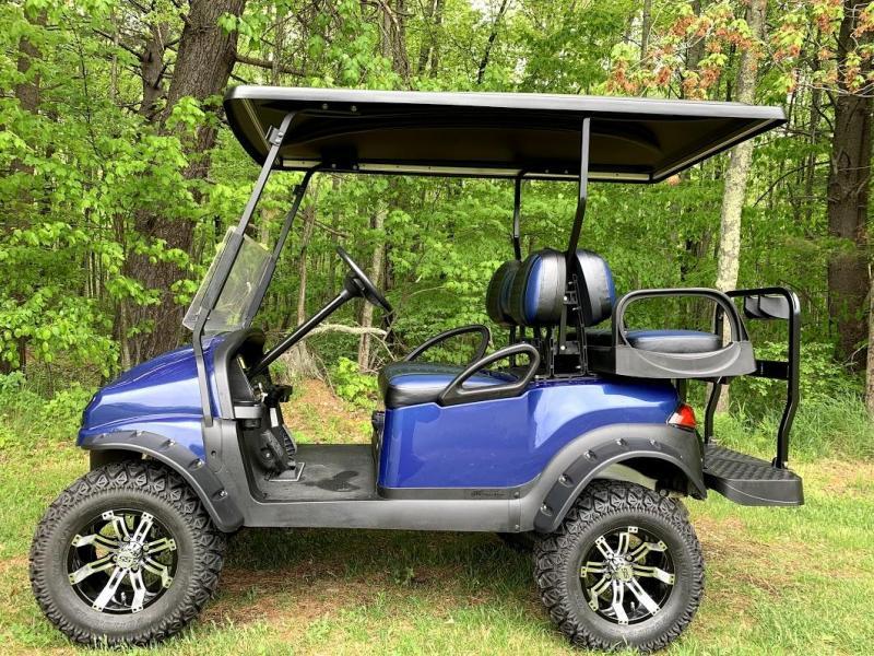 CUSTOM PRECEDENT PHANTOM NAVY METALLIC ELEC GOLF CAR 4 PASS
