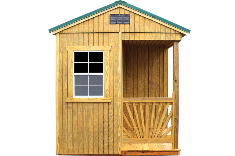 2020 Old Hickory Utility Shed with Side Porch