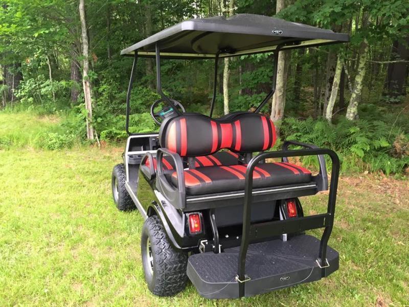 GAS Club Car DS CUSTOM Metallic BLACK-RED Spartan 4 PASS W/LIFT KIT