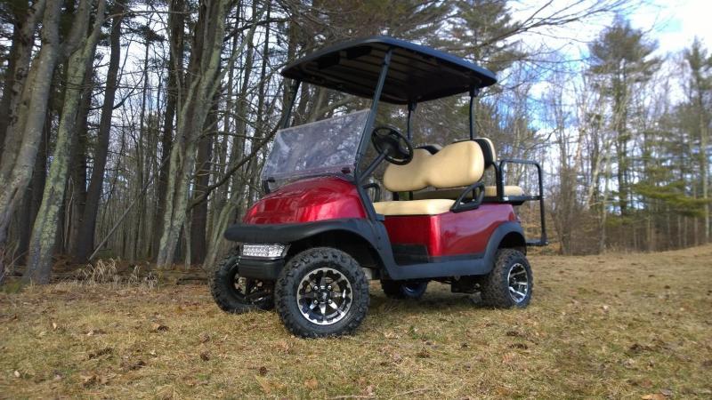 Custom Candy Apple Red Precedent 4 Pass Golf Cart NICE CART!