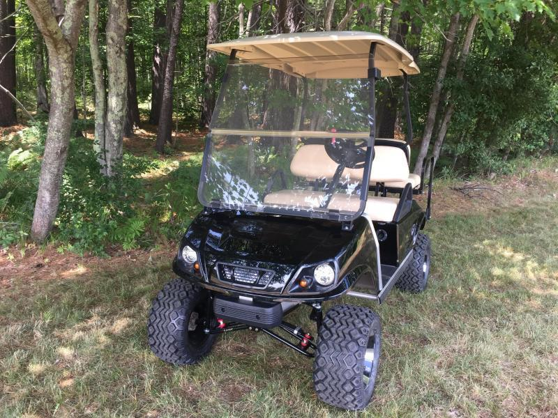 GAS POWERED Club Car Spartan Metallic Black 4 PASS GOLF CAR W/LIFT KIT