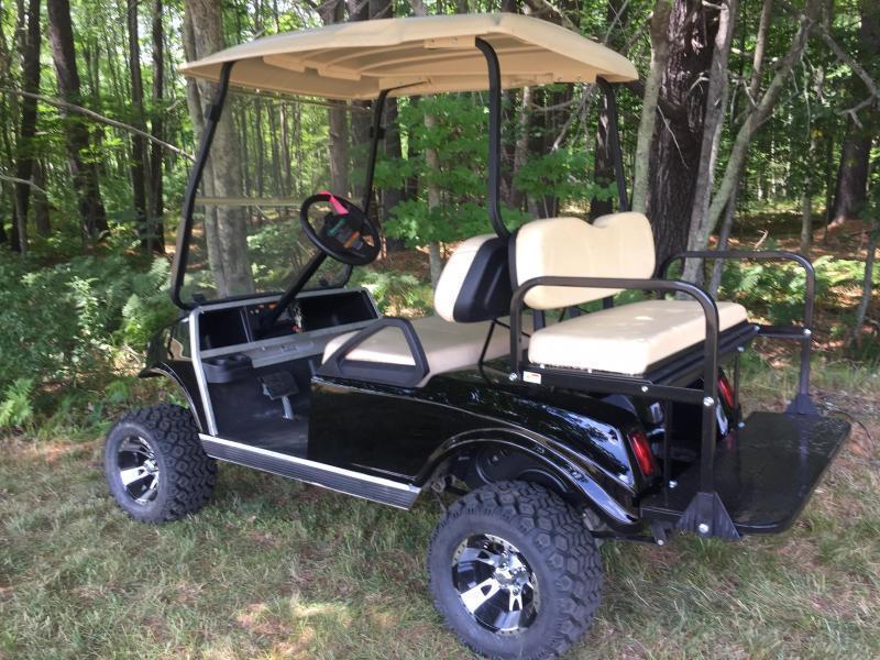 GAS POWERED Club Car Spartan Metallic Black 4 PASS GOLF CAR W/LIFT KIT