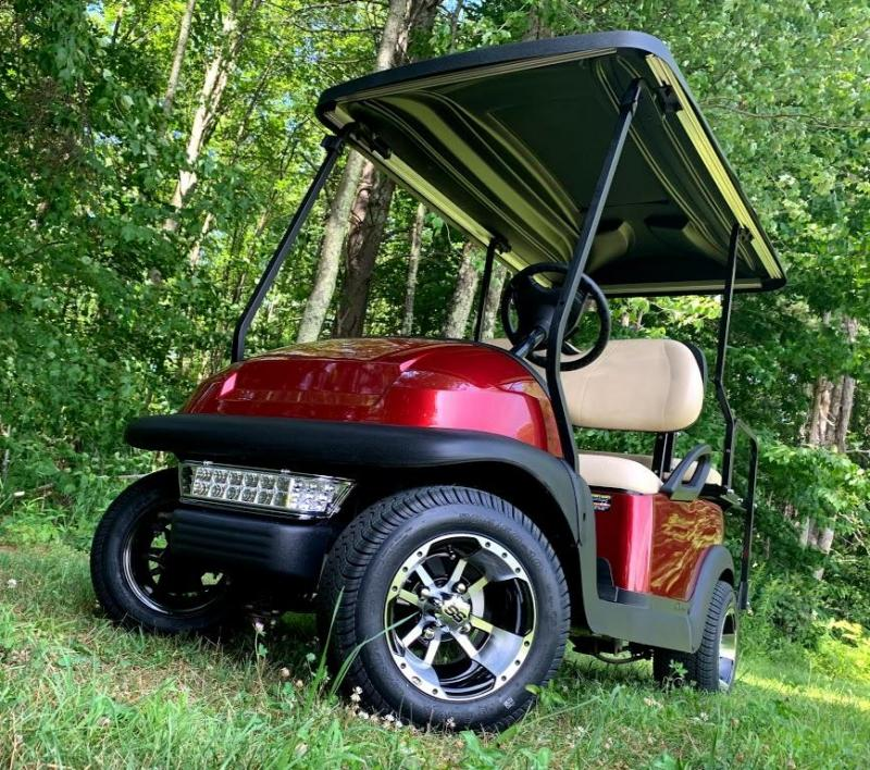 Club Car Precedent Candy Apple Red Metallic 4 pass CUSTOM 2017 Battery