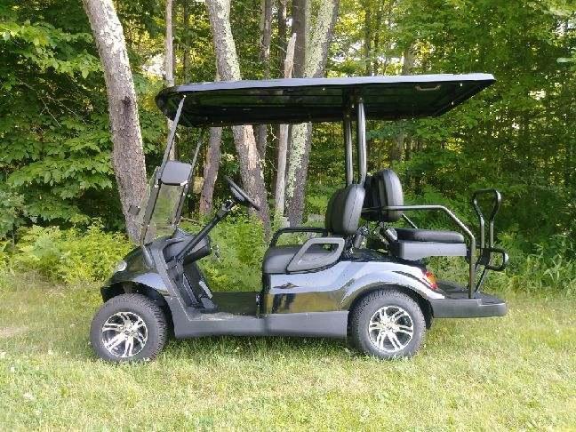 NEW 2018 Icon i40 METALLIC BLACK 25MPH 4 pass golf car SUPER NICE-FAST