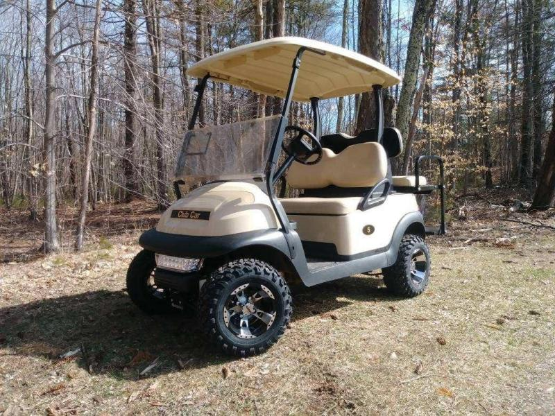 "Club Car Precedent Electric 4 pass BEIGE golf car NEW 4"" LIFT KIT-NICE"