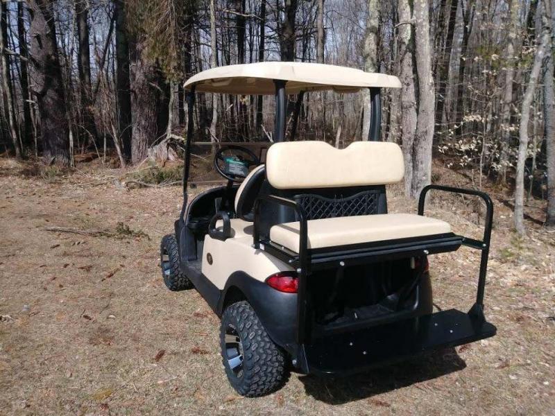 "Club Car Precedent Electric 4 pass BEIGE golf car NEW 4"" LIFT KIT-NICE"