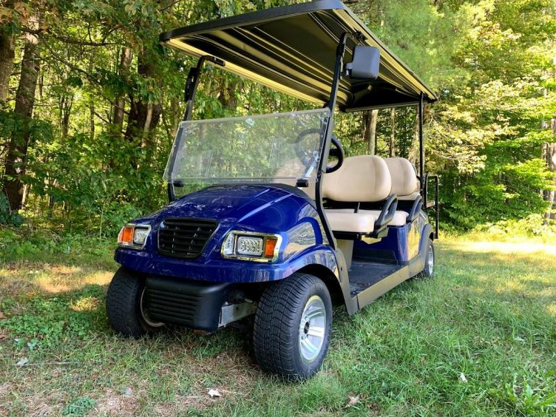 CUSTOM Club Car Precedent Metallic Blue Phantom 6 pass ELECTRIC LIMO