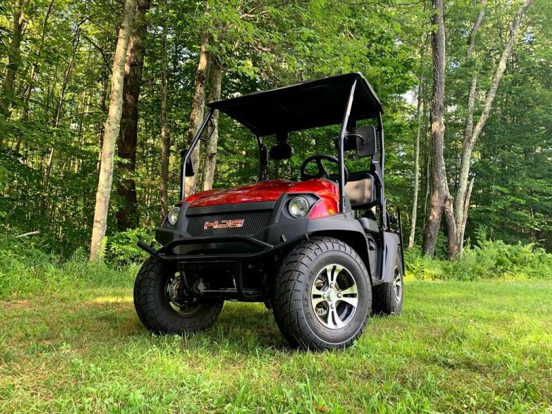 '18 HJS Big Horn 200GVX UTV 4 pass GAS Golf Cart w/flatbed BURGUNDY